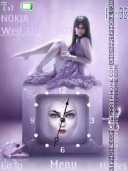 Скриншот темы Girl Clock
