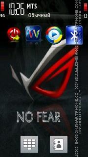 No Fear Theme theme screenshot