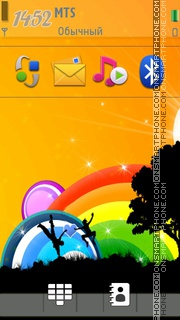 Rainbow Fun theme screenshot