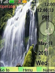 Скриншот темы Waterfall 2