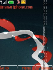 Abstraction in red theme screenshot