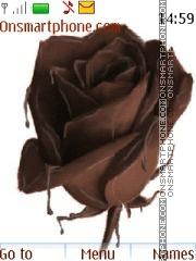 Скриншот темы Rose Chocolate