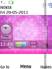 Emo butterfly tema screenshot