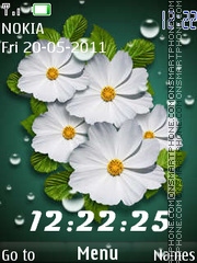 White flowers theme screenshot