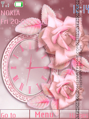 Roses Clock theme screenshot