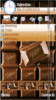 Скриншот темы Cadbury