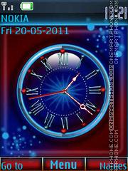 Analog Clock W Icons theme screenshot
