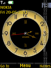 Cool Analog Clock theme screenshot