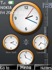 World Clock 01 es el tema de pantalla