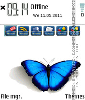 Butterfly Social Icons theme screenshot