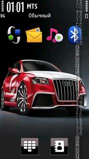 Red Audi 01 theme screenshot