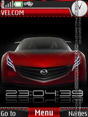 Скриншот темы Mazda red clock