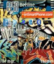 Capture d'écran Grafity thème