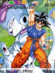 Скриншот темы Goku with split bomb