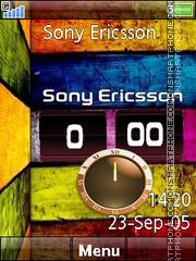 Sony Dual Clock theme screenshot