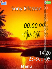 Sunset Clock 02 Theme-Screenshot