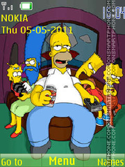 The Simpsons 12 theme screenshot