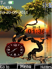 Sunset Clock 03 theme screenshot