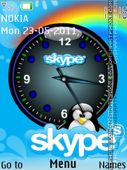 Skype Clock Theme-Screenshot
