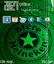 Green beer Heineken theme screenshot
