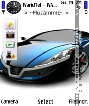 Beautiful Car Peugeot theme screenshot
