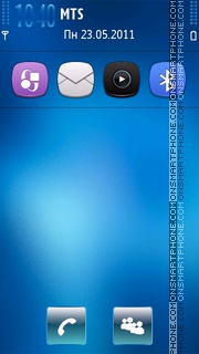 Express blue theme screenshot