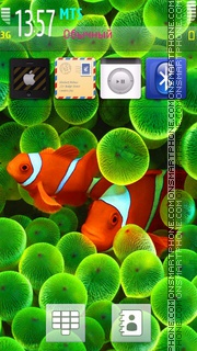 Clown Fish - I Phone Style theme screenshot
