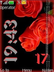 Red roses swf tema screenshot