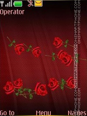 Red roses swf theme screenshot