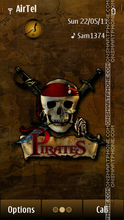 Pirates theme screenshot