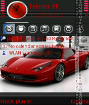 Ferrari 458 Italia theme screenshot