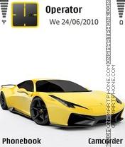 Ferrari 458 GT theme screenshot