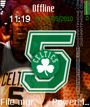Boston Celtics Kg5 theme screenshot