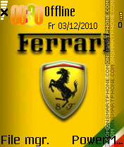 Ferrari Power theme screenshot