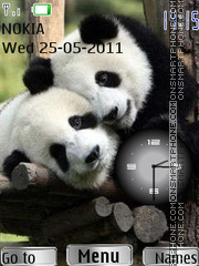 Panda Clock theme screenshot