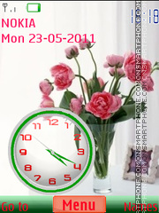Flowers Clock 03 theme screenshot