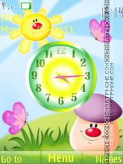 Cartoon Clock theme screenshot