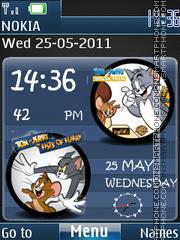 Tom and Jerry Clock 3d theme screenshot