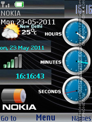 Super Nokia Clocks theme screenshot