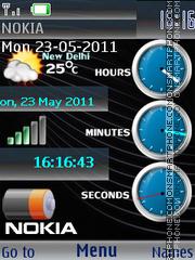 Скриншот темы Super Nokia Clocks