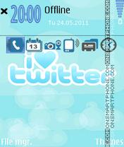 I Love Twitter theme screenshot