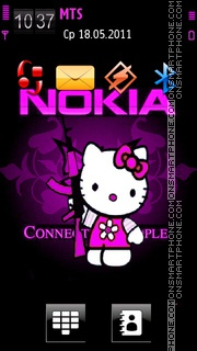 Nokia Pink Kitty theme screenshot