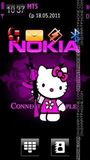 Скриншот темы Nokia Pink Kitty
