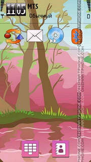 Foresta Rosa theme screenshot