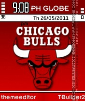 Chicago Bulls Theme tema screenshot