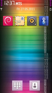 Colour Splash 3D es el tema de pantalla