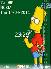 Writing Simpson Clock theme screenshot