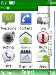 Скриншот темы Android Menu