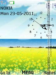 3d Analog Clock theme screenshot