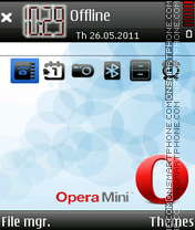 Скриншот темы Opera Mini Nice Black Iconx
